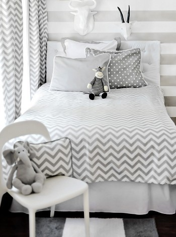 Zig zag bedding set modern kids bedding by new for Zig zag bedroom ideas