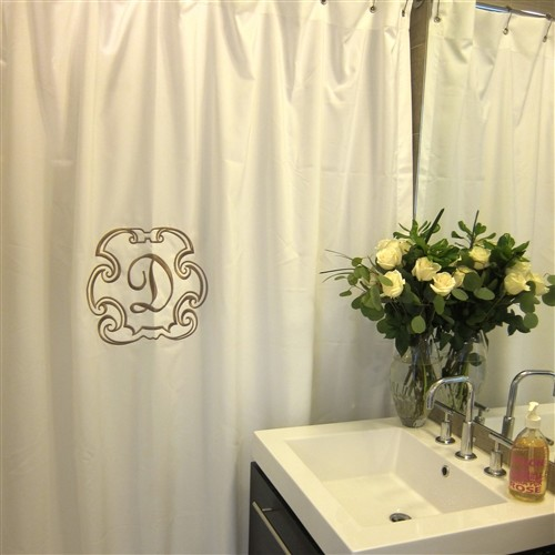 deluxe monogrammed shower curtain traditional shower curtains by