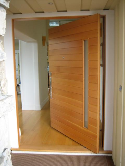 Piedmont Pivot - Modern - Front Doors - san francisco - by Artistic Millworks