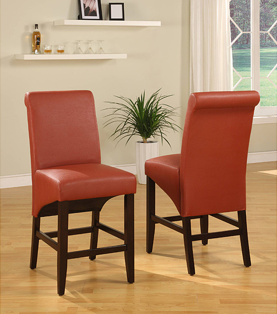 Sleigh Back Sienna Counter Stool Set Of 2 Contemporary
