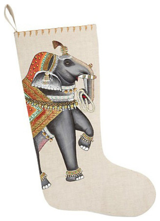 Elephant Stocking eclectic-christmas-stockings-and-holders