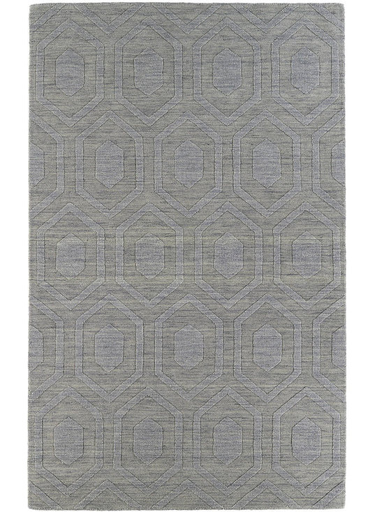 Kaleen - Imprints Modern Ipm01 Steel Rug - Imprints Modern, where textiles meet fashion. Modern textile designs and todays hottest colors combine to meet the new evolution of this beautiful collection. Straight off the runway and into your home each rug is handmade in India of 100% Virgin Wool.