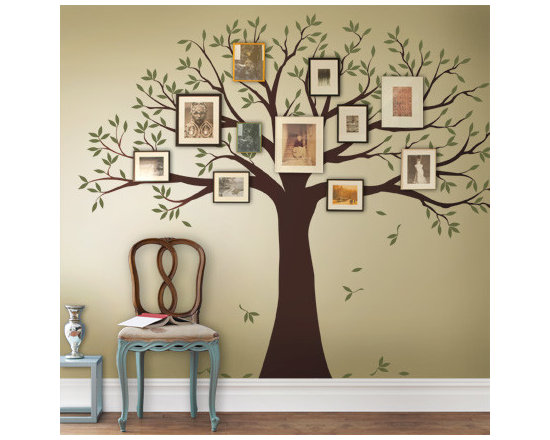 Family Tree Wall Decal - 2 color - Simple Shapes