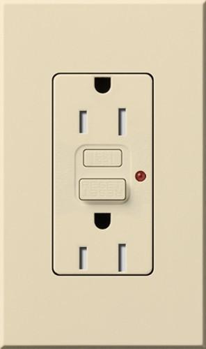 Nova T* Tamper Resistant GFCI Receptacle - modern - bathroom
