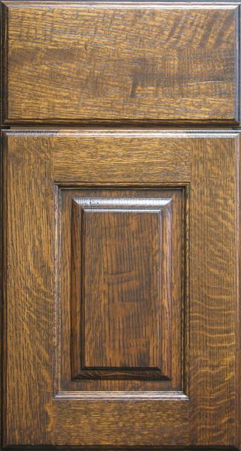 Quarter Sawn White Oak Raised Panel Cabinet Door - Rustic ...