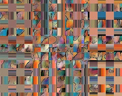 Multicolored Fractured Reality by Ben and Raisa Gertsberg - canvas art, art prin modern-artwork