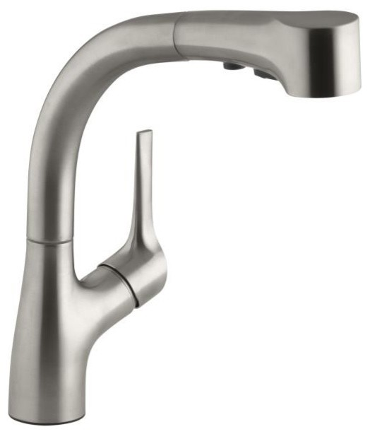 Kohler Stainless Steel Kitchen Faucets : ... Kitchen Faucet in Vibrant Stainless Steel contemporary-kitchen-faucets