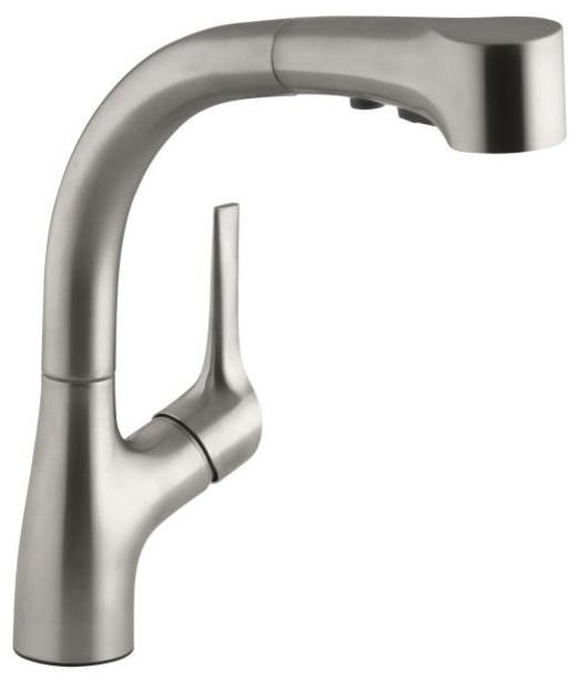 KOHLER K-13963-VS Elate Pullout Kitchen Faucet in Vibrant