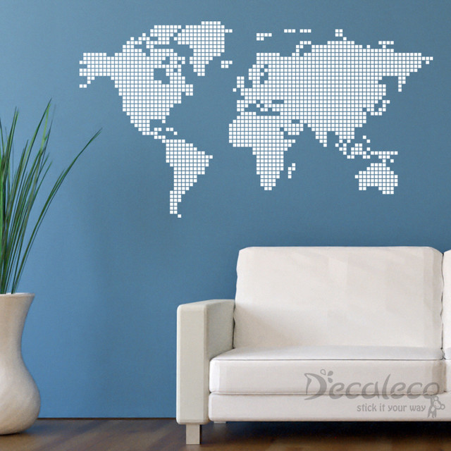 Nice World Map Wall Decals Home Design - Wall decals map