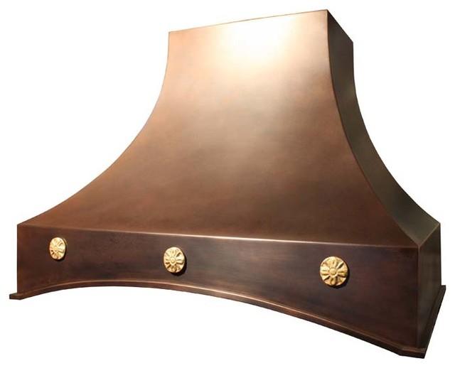 Copper Range Hood | Arched Sweep | Vogler - Kitchen Hoods And Vents - other metro - by Vogler ...