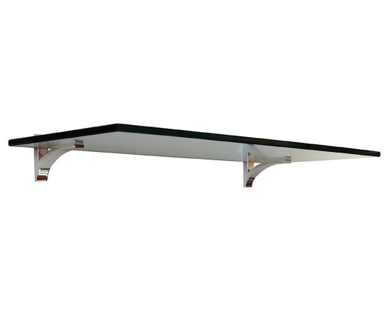 "Expo Design Inc - Shelf Clip Kit 10""x36"" - 10""x36""x 3/8"" thick tempered glass shelf pre packaged with a set of Shelf Clips."