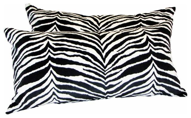 Zebra Print Throw Pillow - Modern - Pillows - by Drea Custom Designs