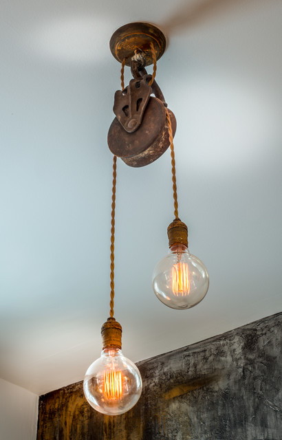 Pulley ceiling light industrial montreal by cr ateur urbain - Ceiling fan pulley system ...
