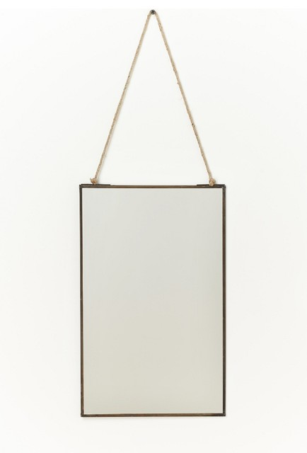 Admiral hanging mirror brown motif contemporary wall for Hanging mirror