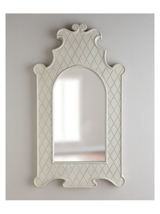 Horchow - 'Lotus' Mirror - The bone mirror is my current catalog favorite. This one is pretty incredible. The frilly silhouette is tempered by the glossy white finish that makes it feel modern and crisp. It would look absolutely amazing against a yellow wall.