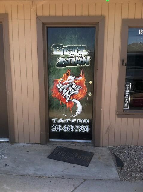 Custom Door Wraps Industrial Front Doors Boise By