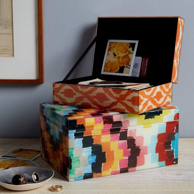 Patterned Jewelry Boxes contemporary-jewelry-boxes-and-organizers