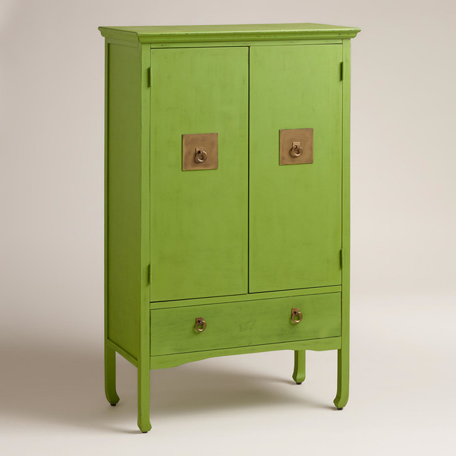 Green Davia Hall Cabinet - Eclectic - Accent Chests And Cabinets - by Cost Plus World Market