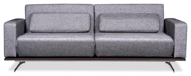 Copperfield Silver-Black Futon modern-futons