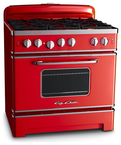 big chill 36 retro stove cherry red gas ranges and