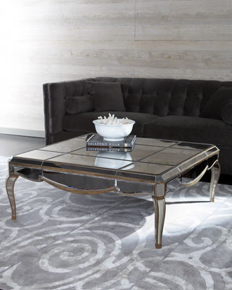 Mirrored Coffee Table traditional-coffee-tables