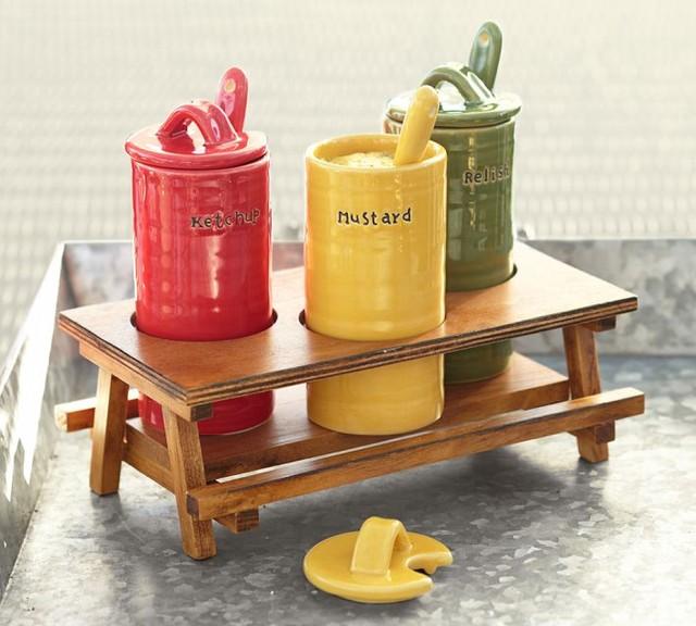 Picnic Table Condiment Set Contemporary Condiment Sets