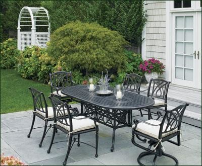 Grand Terrace Oval Table - - outdoor tables - other metro - by ...