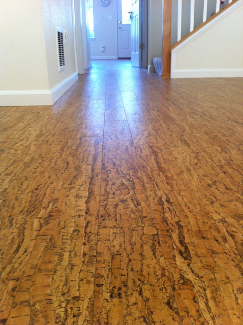 Cork floor contemporary hardwood flooring denver for Sustainable cork flooring
