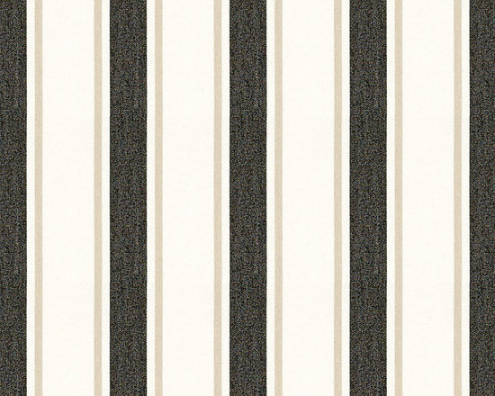 "Ballard Designs - Suzanne Kasler Nantucket Stripe Black Sunbrella Fabric by the Yard - Content: 100% Sunbrella® Acrylic. Repeat: Non-railroaded fabric, 4"" Repeat. Care: Spot clean with mild soap. Width: 54"" wide. Black, tan & white stripes woven in a crisp canvas of washable, easy-care Sunbrella acrylic. Designed by Suzanne Kasler. Content: 100% Sunbrella Acrylic. . . . Because fabrics are available in whole-yard increments only, please round your yardage up to the next whole number if your project calls for fractions of a yard. To order fabric for Ballard Customer's-Own-Material (COM) items, please refer to the order instructions provided for each product.Ballard offers free fabric swatches: $5.95 Shipping and Processing, ten swatch maximum. Sorry, cut fabric is non-returnable."