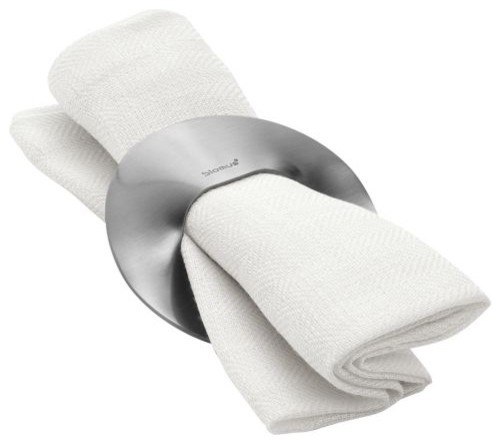 SINUS Set of 4 Napkin Rings by Blomus modern-napkin-rings