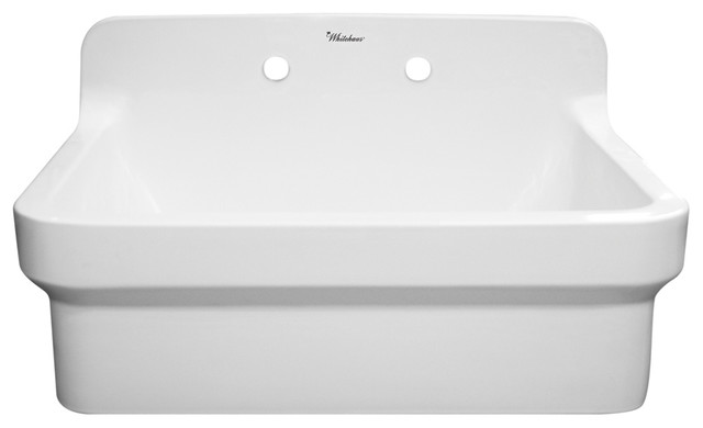Laundry Sink With A High Backsplash Traditional Kitchen Sinks By