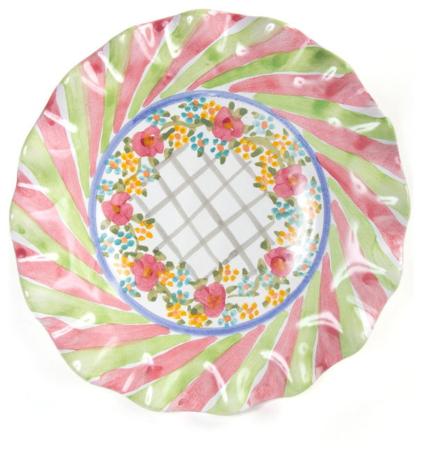 Taylor Fluted Rim Luncheon Plate - Glen Park | MacKenzie-Childs eclectic-plates