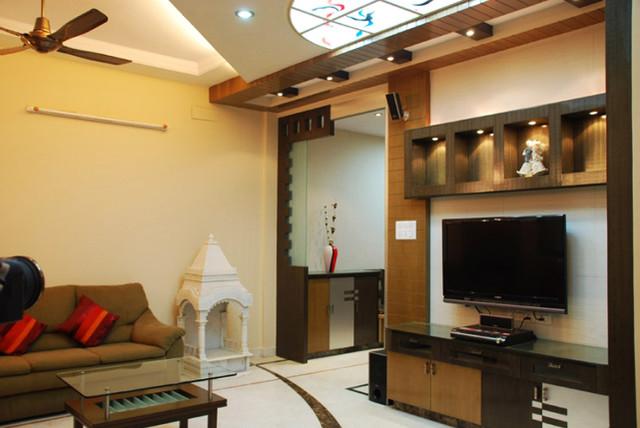 NERUALKAR  HOUSE. contemporary-living-room