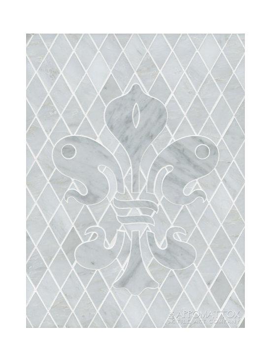 "New Orleans Fleur De Lys 12"" x 16"" - Asian Statuary, Carrara"