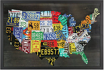 USA Map - Aaron Foster modern artwork