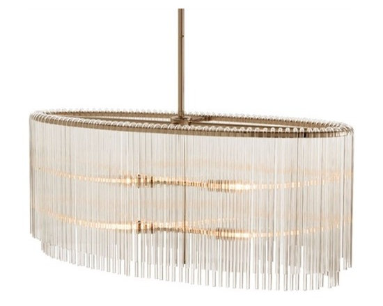 Arteriors Royalton 4 Light Oval Glass/Metal Pendant - Arteriors Royalton 4 Light Oval Glass/Metal Pendant