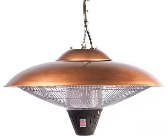 Hanging Copper Halogen Patio Heater Contemporary