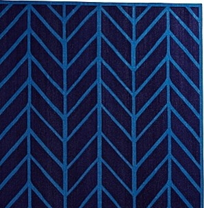 Navy/Cobalt Feather Rug contemporary-rugs