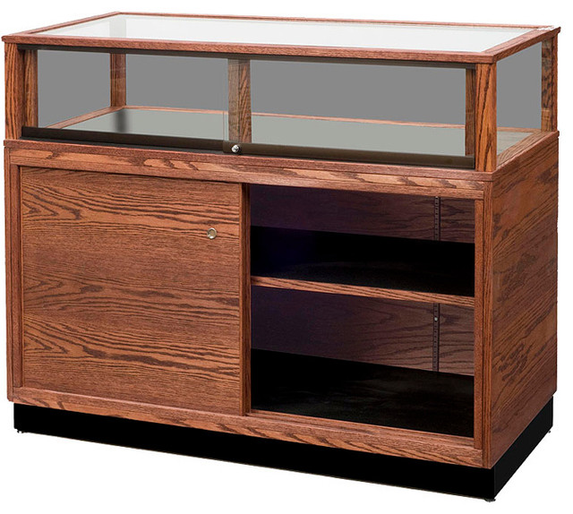 Contemporary Jewelry Display Case with Storage ...