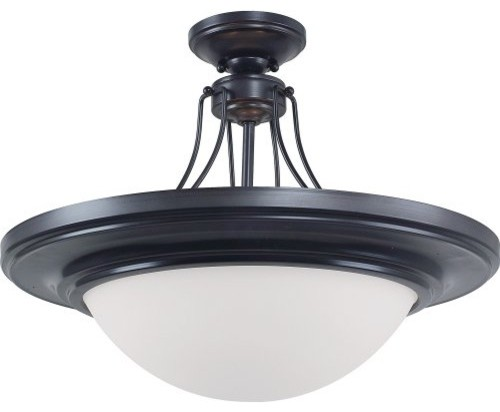 Royce Gibson Semi Flush Mount Light - 19W in. Architectural Bronze contemporary-ceiling-lighting