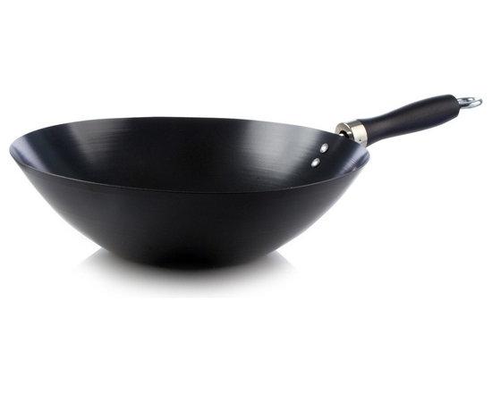 Judge Black carbon steel 30cm wacky wok -