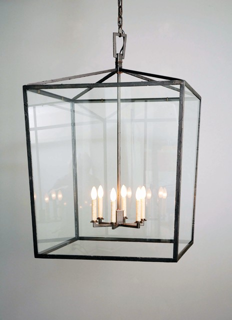 Square Box Cage Lantern Traditional Outdoor Hanging