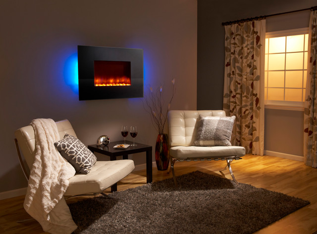 electric fireplace modern bedroom dallas by trinity hearth