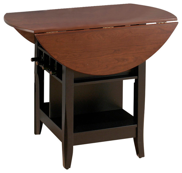 Jofran Brunette Cherry Drop Leaf Counter Height Table With