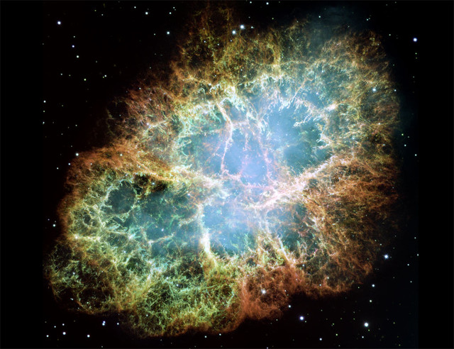 Hubble Crab Nebula eclectic artwork