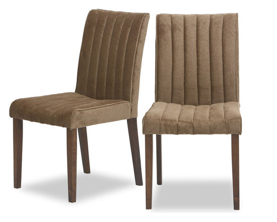 Strip Umber Fabric Upholstered Dining Chair -