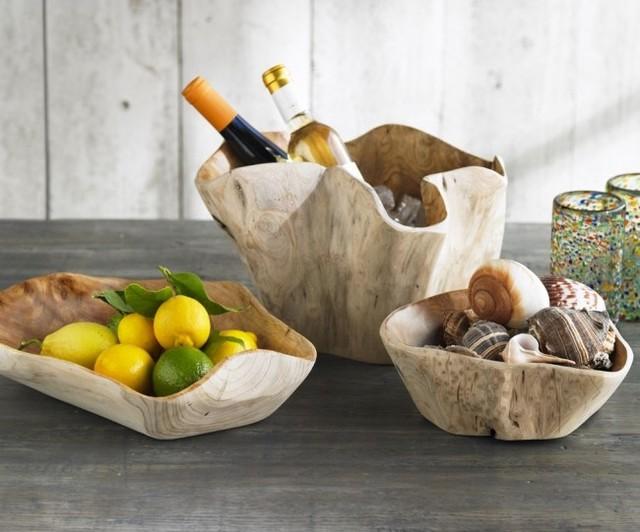 Whitewash Root Bowls eclectic-serving-bowls