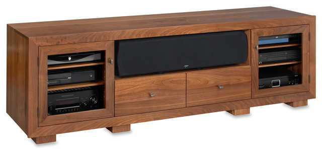 Standout Haven Ex 82w Solid Wood Media Console Natural