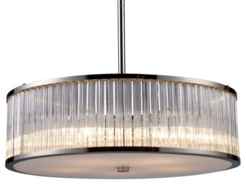Braxton Drum Pendant/Semi-Flushmount by ELK Lighting modern-pendant-lighting