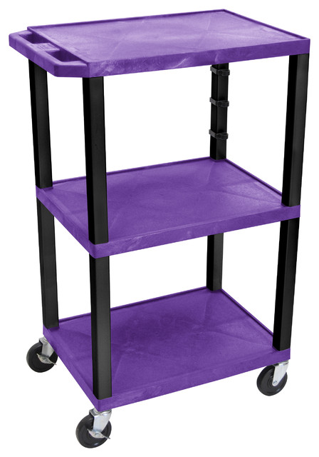 H Wilson Presentation Cart - WT42PE-B traditional-office-carts-and-stands